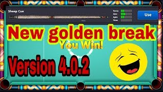 9 Ball Pool GOLDEN BREAK NEW 2018 | Winning In 1 Shot with sheep cue | 100% working