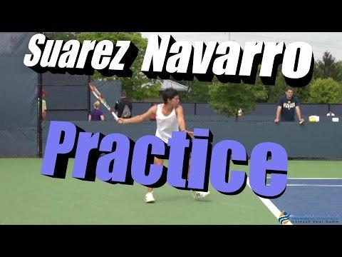 Carla Suarez Navarro Practice Session (Cincinnati 2014)