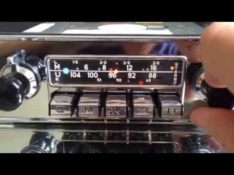 Chromrlondon.com BLAUPUNKT FRANKFURT STEREO 12v+/- VINTAGE CHROME RADIO WITH FULL MP3 CONNECTIVITY
