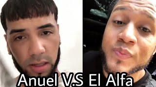 El Alfa Pone a Rayas a ANUEL AA Tras Burlarse por Instagram subiendo video a su historia no del tema