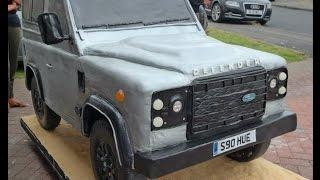 Giant Land Rover Defender Car Cake Timelapse Tutorial