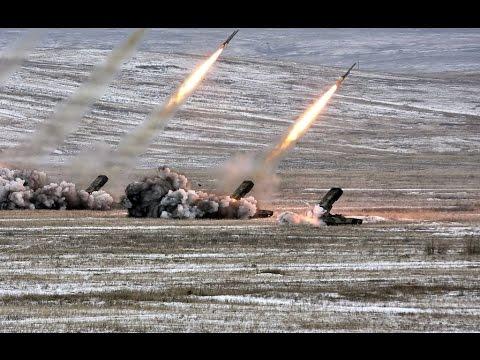 Российская РСЗО ТОС-1 сжигает террористов в Сирии/Russian weapons in Syria