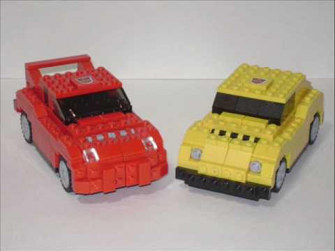 Lego Transformers Bumblebee and Cliffjumper.wmv