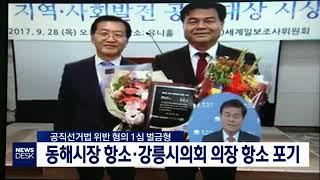 선거법 위반, 동해시장 항소·강릉시의장 항소 포기