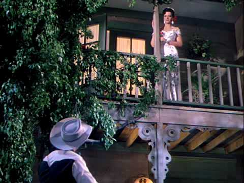 Roy Rogers serenades Jane Russell in Son Of Paleface