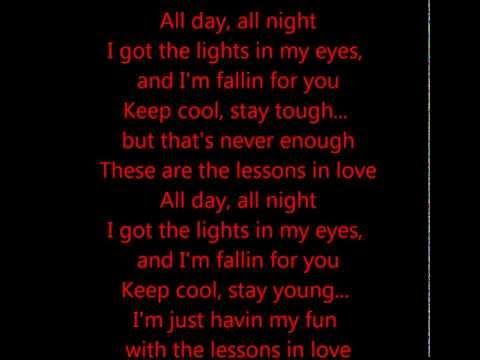 Lessons in Love - Neon Trees Feat. Kaskade (Lyrics on screen)
