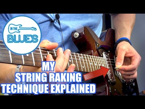 My Raking Technique Explained! A Lesson For Electric Blues Lead Guitar