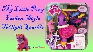 My Little Pony Fashion Style Twilight Sparkle Friendship is Magic HASBRO unboxing