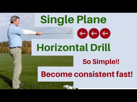 Single Plane Golf swing Video - Horizontal Drill - Free golf instruction. for kids too