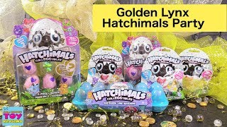 Hatchimals CollEGGtibles Golden Lynx Season 2 Party Toy Opening Review | PSToyReviews