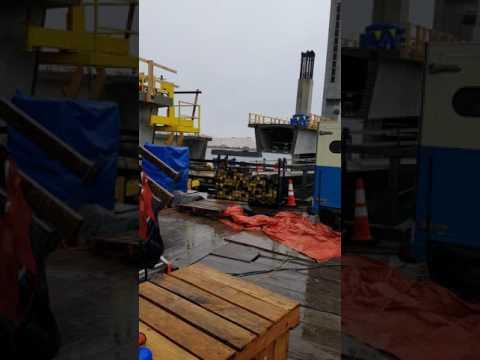 Sarah Long Bridge - Pier 18 Blasting