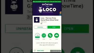 Eran money real cash with loco live trivia game show nice eraning app install and eran