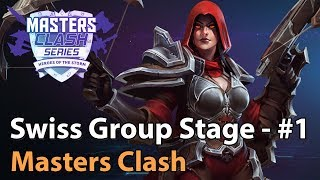 ► Heroes of the Storm: Masters Clash Swiss Groupstage - Part 1