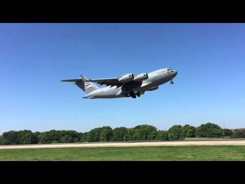 C-17 Departure at Memphis International Airport