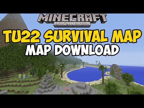Minecraft Xbox 360/One: TU22 SURVIVAL Map Download (Sunken Island + Challenges)