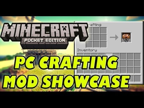 PC CRAFTING IN MINECRAFT POCKET EDITION - BEST MOD EVER?!?!?!!?