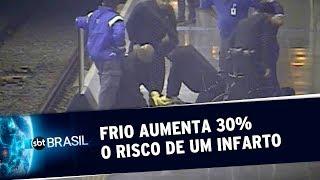 Frio aumenta 30% o risco de um infarto, aponta levantamento | SBT Brasil (18/07/19)
