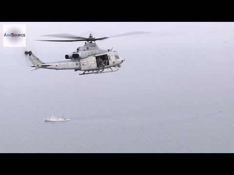 U.S. UH-1Y Huey in Korean Ferry Search & Rescue Operations