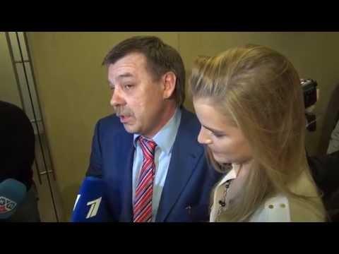 Олег Знарок и его дочь Алиса дают интервью после назначения папы главным тренером сборной России