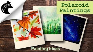 Acrylic Painting Ideas Polaroid Painting