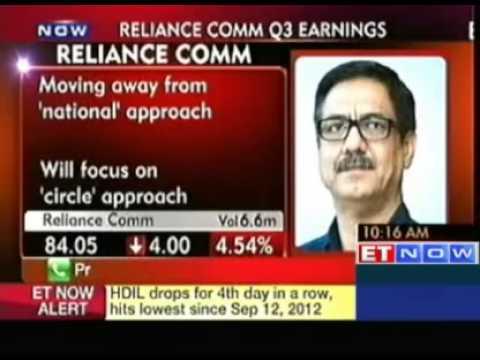 Reliance Communications Q3 net falls 44% at Rs 105 crore