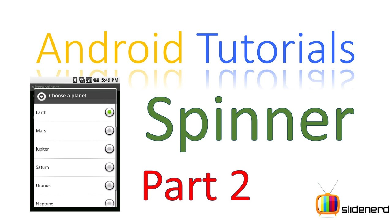 105 Android Spinner Example: Android Tutorial For Beginners [HD 1080p ...