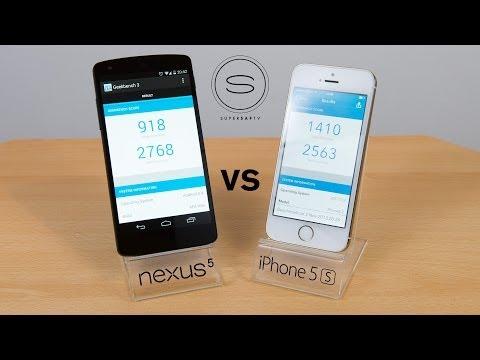 Nexus 5 vs iPhone 5s - Benchmark + Speed Test