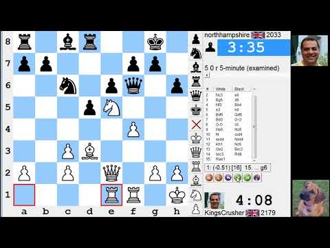 LIVE Blitz #2586 (Speed) Chess Game: White vs northhampshire in QP game (Richter-Veresov attack)