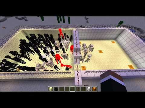 Minecraft - Endermen VS. Iron Golems