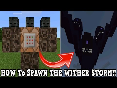 Minecraft Pe How To Spawn A Wither Storm - Minecraft Pocket Edition!!!