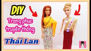 HOW TO MAKE A Barbie dress : Thai dress / DIY Doll Style