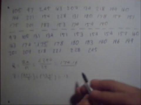 Medidas de Tendencia Central para datos No Agrupados