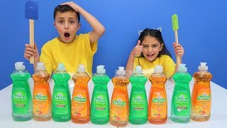 Don't Choose the Wrong Dish Soap Slime Challenge!