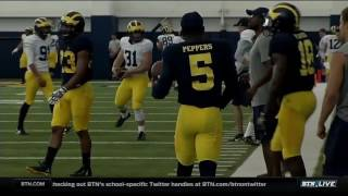 Jim Harbaugh Fall Practice Interview