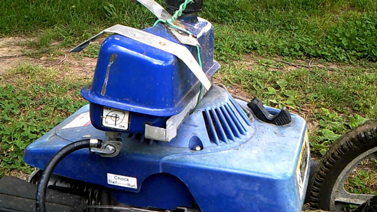 Harbor Freight Mower : Rigged up harbor freight lawn mower youtube
