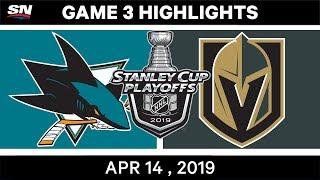 NHL Highlights | Sharks vs Golden Knights, Game 3 – April 14, 2019