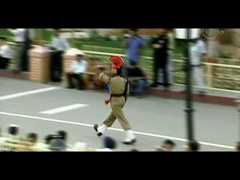 Wagha Border...see The Confidence Of Inidan Soldiers..bsf We Salute U. video