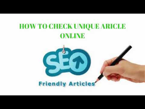 How To Check Unique Article Online free | SEO tips and Tricks