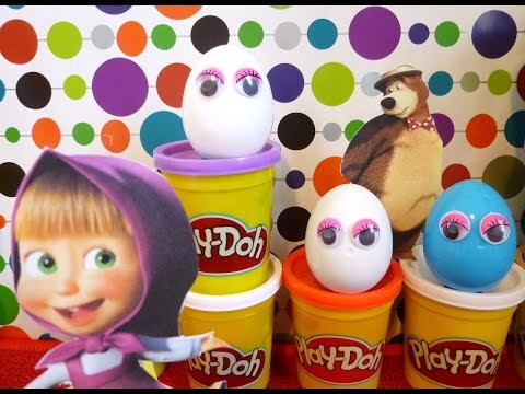 Play-Doh Surprise Eggs Planes Angry Birds Маша и Медведь Hello Kitty Masha and the bear