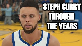 STEPHEN CURRY THROUGH THE YEARS - COLLEGE HOOPS 2K7 - NBA 2K18