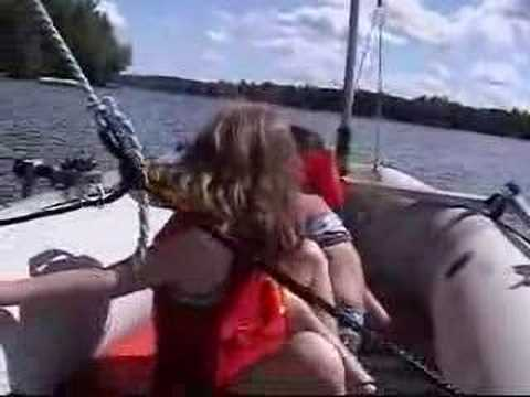 intex mariner with sail and cabin diy homemade inflatable. Black Bedroom Furniture Sets. Home Design Ideas