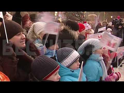 Владимир Путин в гостях у Деда Мороза