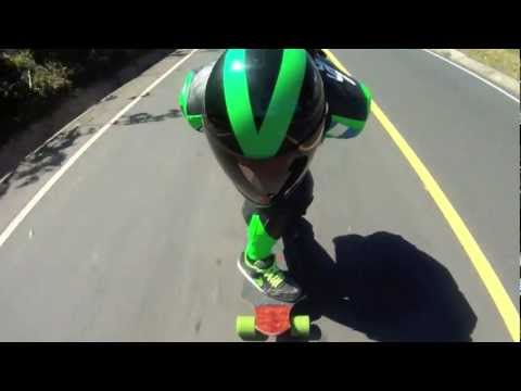 90km/h+ speedboarding in guatemala RAW