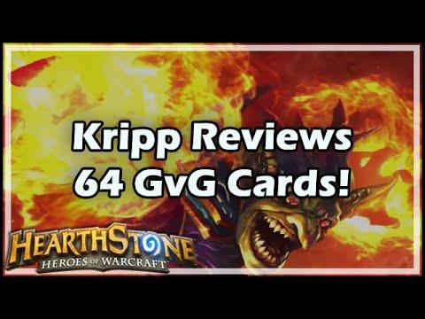 [Hearthstone] Kripp Reviews 64 GvG Cards!