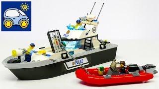 Лего Полицейский Катер 60129. Обзор конструктора Lego Police Patrol Boat. Картонка