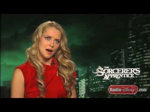 Sorcerer's Apprentice Star Teresa Palmer with Radio Disney's Jake
