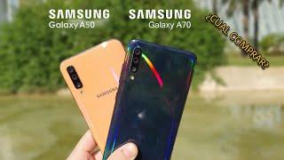 Galaxy A70 VS A50 COMPARATIVA en español, ¿Cual DEBES COMPRAR?