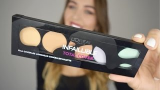 L'oréal INFAILLIBLE TOTAL COVER palette REVIEW | First impressions