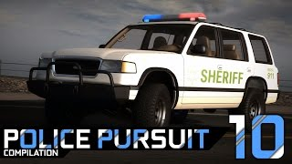 BeamNG.Drive Police Pursuits Compilation #10 - Roamer Sheriff - [Crashes & Rollovers - 60FPS]