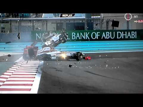 Abu Dhabi 2012 Rosberg & Karthikeyan crash